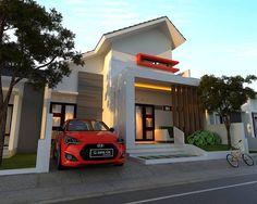 Model Rumah Minimalis Modern 2 Lantai Tampak Depan