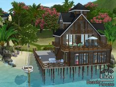 Liza furnished beach house by ayyuff - Sims 3 Downloads CC Caboodle