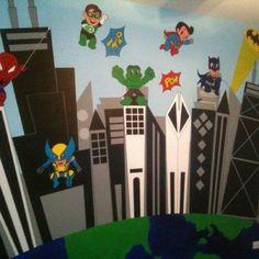 Superhero Nursery Wall
