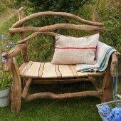 Rustic Woodland Bench