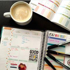 """But first, coffee."" @lauraleiva #eclifeplanner"