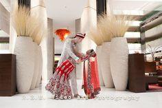 Bride and groom pose - Indian wedding. Hyatt Regency O'Hare. www.remvp.com