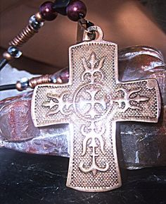 Copper Cross Necklace by Lusmysticjewels on Etsy, $20.00