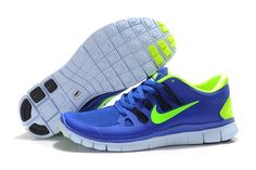 319fea112f7c Womens Nike Free 5.0 Running Shoes Hyper Blue Black Blue Tint Vo Shoes Uk