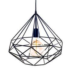Hängeleuchte azalee Metall schwarz geraden Linien + Leuchtmittel Filament-skandinavischen modernistischen industriellen Deckenleuchte Lampe Kronleuchter