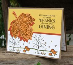 Lighthearted Leaves and Happy Scenes - Stampin' Up! at My Tanglewood Cottage,
