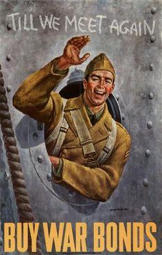Poster: Till we meet again : buy war bonds.