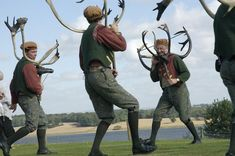 The Abbots Bromley Horn Dance is an English folk dance involving reindeer antlers and a hobby horse that takes place each year in Abbots Bromley, Staffordshire, England.