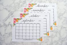 Stay organized with this free printable 2017 calendar and weekly planner. Includes September-December 2016 so you can get started using it now!