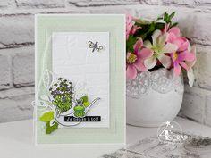 """Australe : #Tampons et #matrices de coupe #dies #4enSCRAP """"Mur de pierres"""" #carte #carterie #card #cardmaking Tampons Transparents, Scrapbooking, Little Fox, Card Ideas, Bouquet, Spring, Gardens, Thinking About You, Colorful Flowers"""