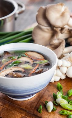 Miso Mushroom Soup: rich in amino acids and enzymes, this'll cure what ails you (vegan).