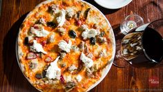 Pizza Macello - burrata, cerignola olives, barese sausage....yum!
