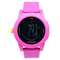 @Overstock - Nixon Women's Genie Watch - This classic timepiece by Nixon features a plastic case and silicone strap. A digital dial, precise quartz movement and a water-resistance level of up to 100 meters finish this fine timepiece.  http://www.overstock.com/Jewelry-Watches/Nixon-Womens-Genie-Watch/6803835/product.html?CID=214117 $61.19