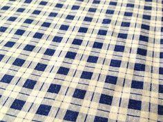 German vintage cottage fabric 50x90cm: Blue Plaid M