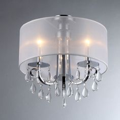 Warehouse of Tiffany Muses Crystal 16-inch Chrome (Grey) Chandelier (Muses Chrome Chandelier)