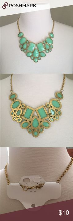 (G23) Blue Statement Necklace ♡Brand: N/A ♡Size: One Size  ♡Fits like: ♡Condition: NWT retail ♡Features: Light blue statement necklace wrapped in gold tone settings.  ☁︎Please read my bio! ☁︎Please ask all questions! ☁︎Measurements and modeling available.  ☁︎Smoke free, pet friendly home.  ☁︎Reasonable offers accepted through the offer button.  ☁︎Ask about my custom bundle deals! ☁︎No trades! Jewelry Necklaces