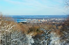 A wintry scene of Traverse City, taken from the Hickory Hills Ski Area. Hickory Hills, Power Outage, Traverse City, Mother Nature, Skiing, Scene, Spaces, Travel, Outdoor