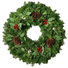 Northwest Wreaths: Fresh Live Evergreen Products. Christmas Wreaths, Basket And Birdhouse Centerpieces. Fresh Greens Delivered To Your Doorstep! Made In The USA! (24' EUCALYPTUS BERRY WREATH) >> Crazy deals that you can't miss : Christmas Wreaths