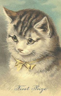 VintageCats118 - This definitely looks like a Helena Maguire cat.