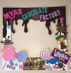 Wonka Chocolate, Chocolate Party, Candy Theme, Candy Party, Willy Wonka, First Birthday Parties, First Birthdays, 3rd Birthday, Birthday Cakes