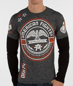 64245246077f2f American Fighter Rollins 2-Fer Thermal Shirt - Men s Shirts in Black