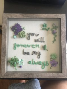 Polymer  Framed quote by CaylinZClayCreations on Etsy
