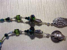 Sojourn blue green lariat by blingbychristine on Etsy, $15.00