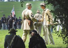 The Union and Confederate sides set up their camps in two separate areas of the park, where visitors could stop by tents for casual discussions. They re-enacted the Battle of Valverde (a Confederate victory in modern-day New Mexico) on Saturday afternoon, hosted a firing competition and gathered for music Saturday night.