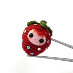 Amigurumi strawberry.