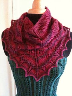 Knitted 'swallowtail' shawl
