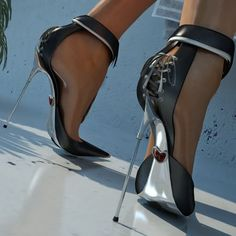 Beautiful Lace UP corseted heels