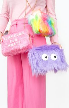 DIY Colorful Faux Fur Clutches | Aww Sam