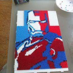 Iron Man hama perler beads by koffejao