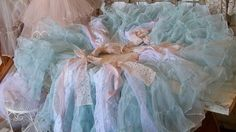Christmas tree skirt shabby chic cottage blue by AnitaSperoDesign, $175.00..love this