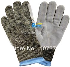 Glass Handing Safety Gloves Aramid Fiber Leather Sewed Anti Cut Resistant Work Glove #Affiliate