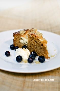 ginger + sour cream cake • heneedsfood