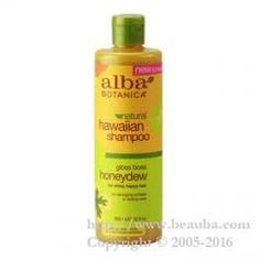 http://www.beauba.com/products/detail.php?product_id=8736 Alba Botanica Hawaiian Shampoo 355ml Hn. #HairCare #Shampoo Achieves beautiful hair with tropical hair care. Finishes hair and scalp healthy with organic Aloe vera and fruit extract. Contains 100% plant essence. Free of sulfate, paraben and petroleum-derived component. HN (Honeydew)