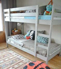 Blue and light grey MYDAL bunk bed for two boys | Siru's apartment in Finland | live from IKEA FAMILY