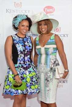 Gayle King & daughter Kirby Bumpus attend the 140th Kentucky Derby in 2014