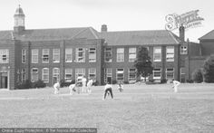 Redditch, County High School, Cricket Players c.1950. From The Francis Frith Collection, a privately-owned archive of over 130,000 photographs of Britain from 1860-1970 that you can browse online for free anytime. #francisfrith #photography #nostalgia School Days, High School, Cricket, Britain, Nostalgia, Archive, Photographs, Street View, History
