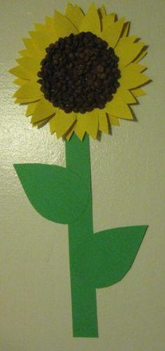 Preschool Craft: Sunflowers - Free printable template