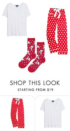 """""""Christmas pajamas"""" by disbsh ❤ liked on Polyvore featuring MANGO and Topshop"""