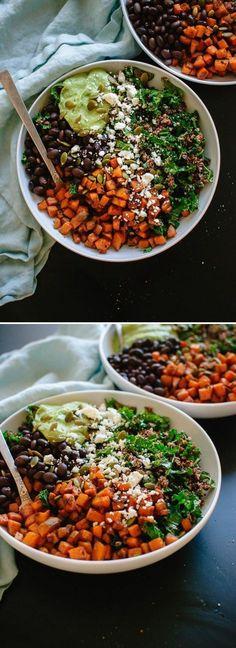 recetas-de-ensaladas-con-zanahoria-frijoles-y-espinaca
