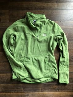 64f6671394a8 The Noth Face Womans Small Green Water Resistant Fleece Zip Up #fashion # clothing #