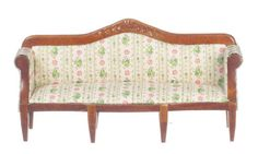 Miniature Living Room Floral Sofa. Elegant dollhouse accent! Not full size - this is a doll accessory! 1:12 Scale. | eBay!