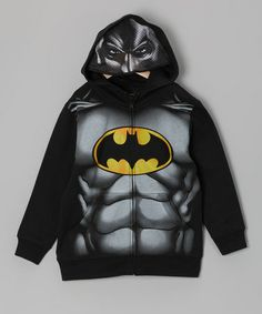 Take a look at this C-Life Black Batman Hoodie by Favorite Characters: Boys' Apparel on @zulily today!