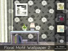 Sims 4 CC's - The Best: Floral Wallpapers by Rirann