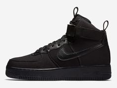 competitive price e7b68 b99b7 ... where can i buy the nike air force 1 high canvas triple black is  officially introduced