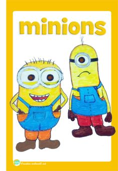 Drawing and Sketch of cutes Minions # Cutes minions drawing and graphic art