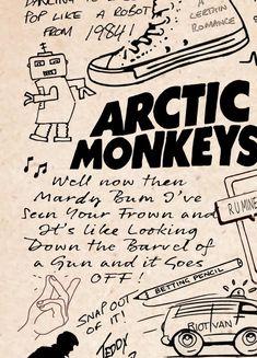 Arctic Monkeys Lyric Album Song Doodle Sketch Poster Print